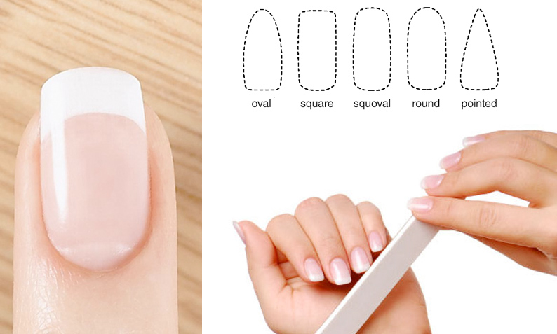 shaping nails - manicure