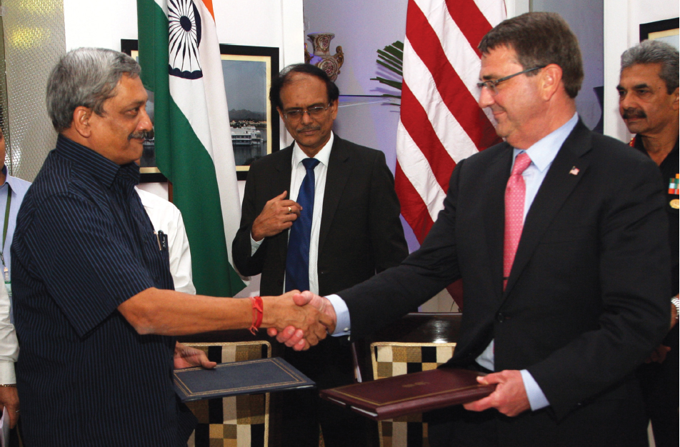 Aston Carter meets Manohar Parrikar