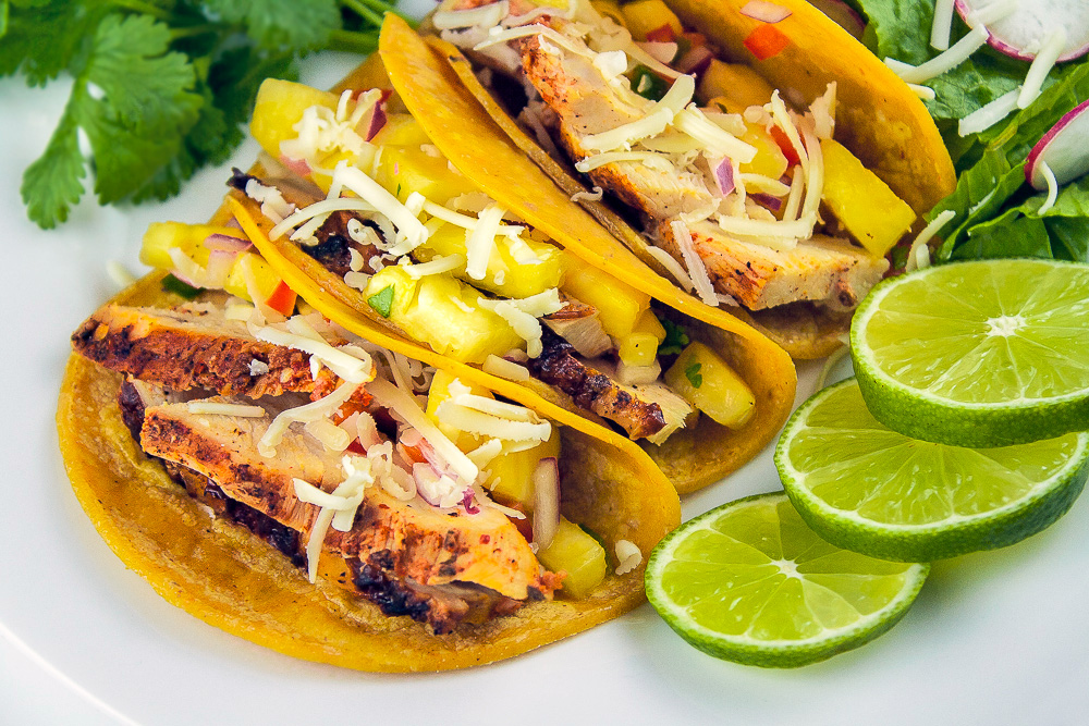 chicken tacos with pineapple salsa