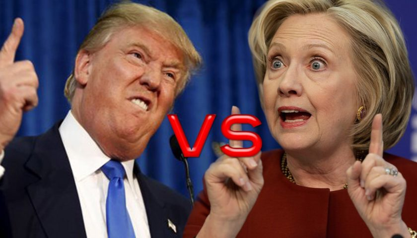 Donald Trump v/s. Hillary Clinton