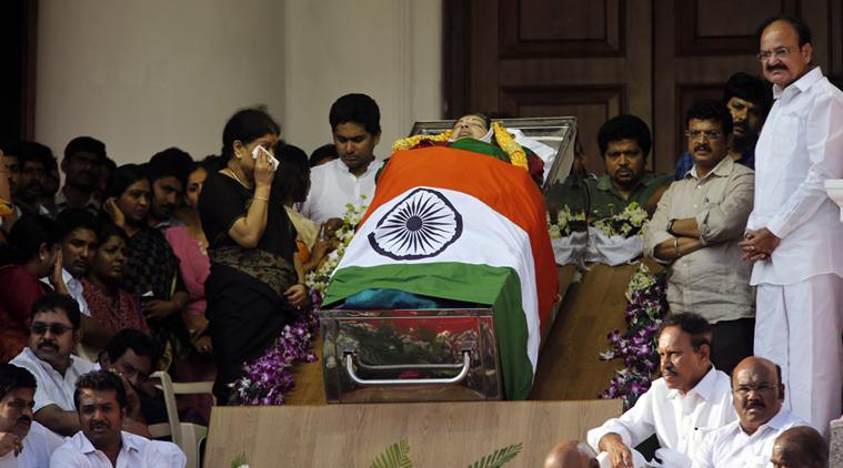 Jayalalithaa passes away